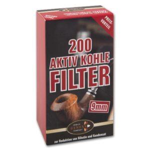 Pfeifenfilter aktiv Kohle Filter Ermuri 9mm