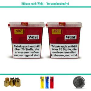 West Giga Volumentabak Zigarettentabak Stopftabak Rot Eimer