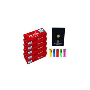 Burton Hülsen Feuerzeuge Zigarettemetui